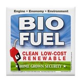 Bio Fuel Clean Tile Coaster