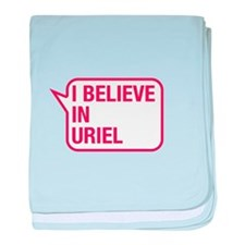 I Believe In Uriel baby blanket