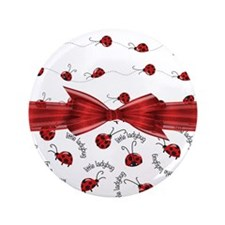 "Perfect Little Ladybugs 3.5"" Button (100 pack)"