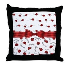 Perfect Little Ladybugs Throw Pillow