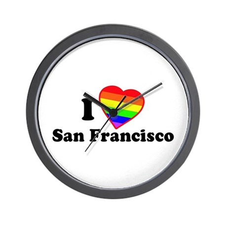 I Love [Heart] San Francisco Wall Clock