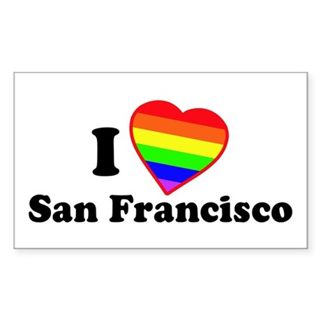 I Love [Heart] San Francisco Rectangle Sticker