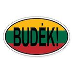 Budek! Sticker (Oval)