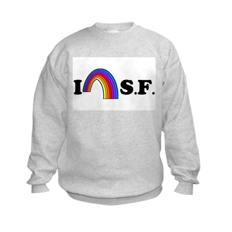 I Love [Heart] San Francisco Kids Sweatshirt