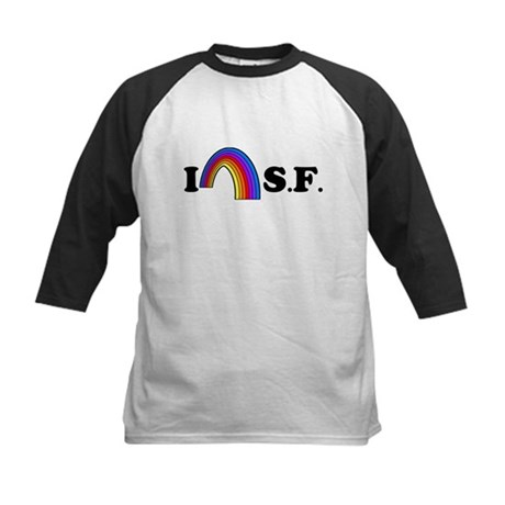 I Love [Heart] San Francisco Kids Baseball Jersey
