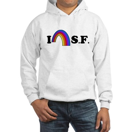 I Love [Heart] San Francisco Hooded Sweatshirt