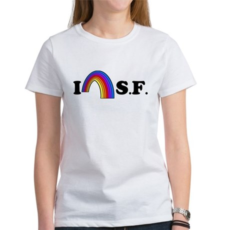 I Love [Heart] San Francisco Womens T-Shirt