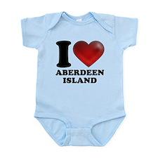 I Heart Aberdeen Island Body Suit