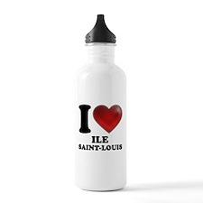 I Heart Ile Saint-Louis Water Bottle