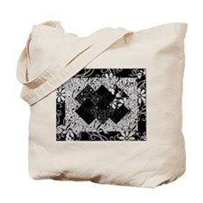 Larissa - Black and White Card Trick pattern Tote