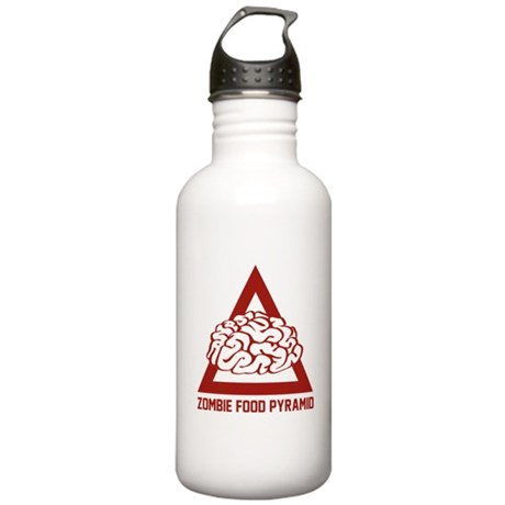 Zombie Food Pyramid Stainless Water Bottle 1.0L