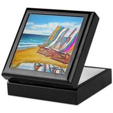 Beach Chair Reflection Keepsake Box