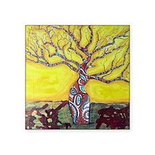 """Boab Tree Bright Square Sticker 3"""" x 3"""""""