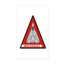 F-14 Tomcat VF-1 Wolfpack Rectangle Decal