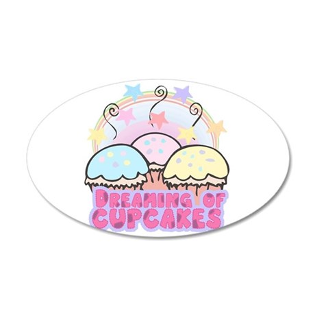 dreaming of cupcakes 20x12 Oval Wall Decal
