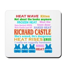 Richard Castle Funny Quotes Mousepad