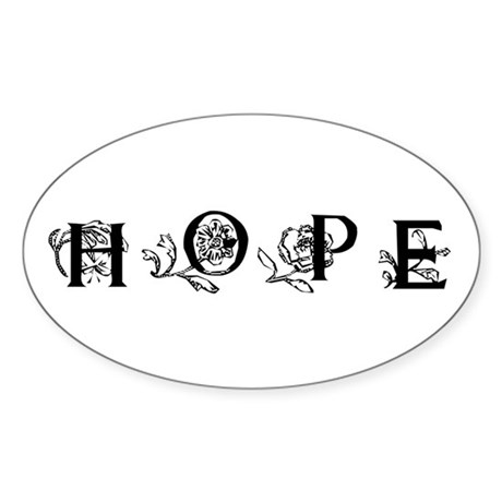 Hope Oval Sticker