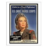 Wartime US Cadet Nurse Corps Small Poster