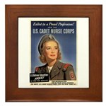 Wartime US Cadet Nurse Corps Framed Tile