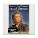 Wartime US Cadet Nurse Corps Tile Coaster