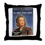 Wartime US Cadet Nurse Corps Throw Pillow