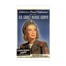 Wartime US Cadet Nurse Corps Rectangle Decal