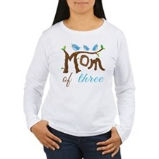 Mom Of Three (birds) Long Sleeve T-Shirt