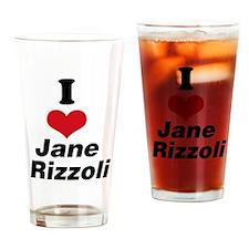 I Heart Jane Rizzoli 1 Drinking Glass