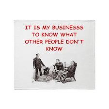 sherlock holmes quote Throw Blanket