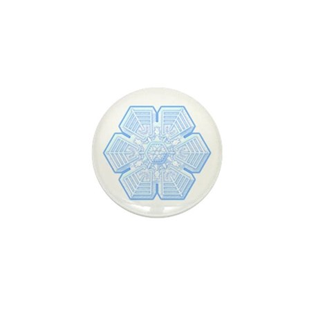 Flurry Snowflake XVI Mini Button