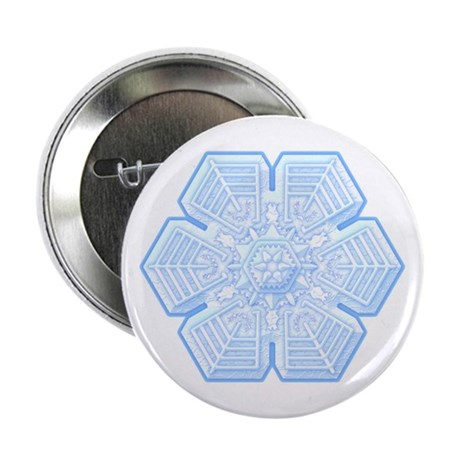 Flurry Snowflake XVI Button