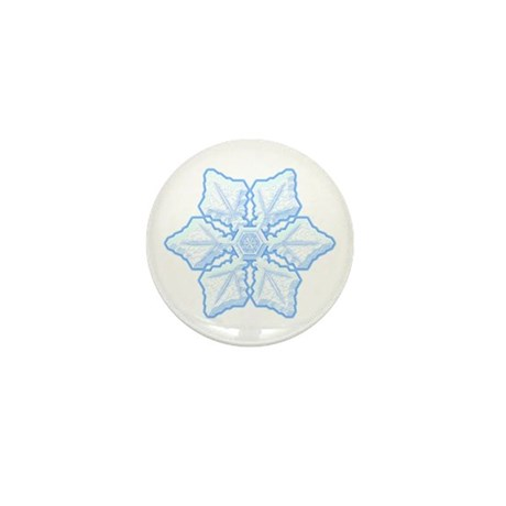 Flurry Snowflake XV Mini Button
