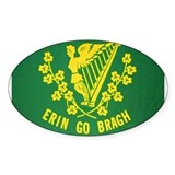Ireland Green Flag Oval Decal