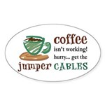 Get the Jumper Cables Oval Sticker