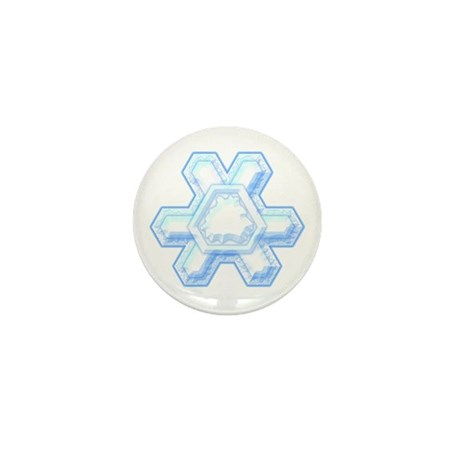 Flurry Snowflake XII Mini Button