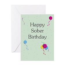 Greeting Card: Happy Sober Birthday