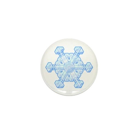 Flurry Snowflake XI Mini Button