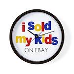 Sold Kids on Ebay Wall Clock