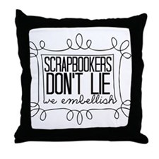 Scrapbookers Embellish Throw Pillow