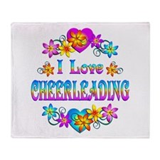 I Love Cheerleading Throw Blanket