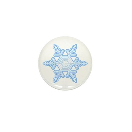 Flurry Snowflake X Mini Button