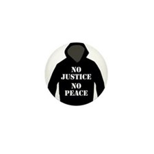 No Justice, No Peace Mini Button (10 pack)