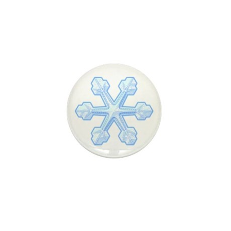 Flurry Snowflake IX Mini Button