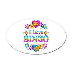 I Love Bingo 35x21 Oval Wall Decal