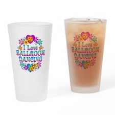 I Love Ballroom Drinking Glass