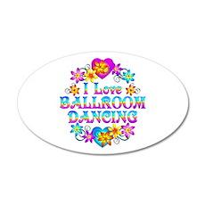 I Love Ballroom 35x21 Oval Wall Decal