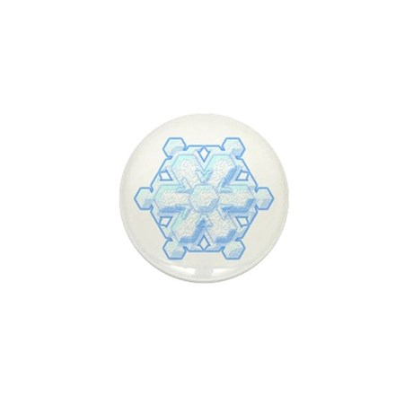 Flurry Snowflake VIII Mini Button