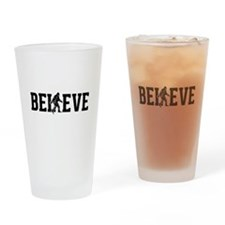 Believe Sasquatch Bigfoot Drinking Glass