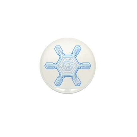 Flurry Snowflake VII Mini Button (10 pack)