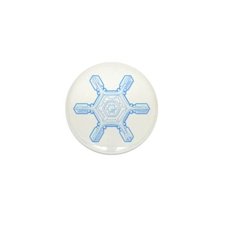 Flurry Snowflake VII Mini Button